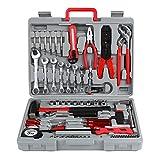 FIXKIT Werkzeugset im Koffer Werkzeugkoffer Werkzeugkasten für den...